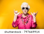 grandmother portrait set in the ... | Shutterstock . vector #797669914