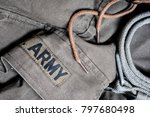 detail of an old military... | Shutterstock . vector #797680498