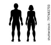 silhouettes women and men on... | Shutterstock .eps vector #797682703