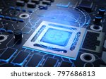 bitcoin on the chip. new crypto ...   Shutterstock . vector #797686813