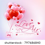love is in the air happy...   Shutterstock .eps vector #797686840