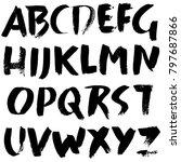 handdrawn dry brush font....   Shutterstock .eps vector #797687866