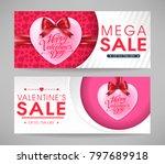 valentines day mega sale... | Shutterstock .eps vector #797689918