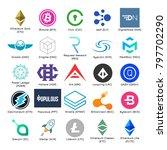 set of vector logos of popular... | Shutterstock .eps vector #797702290