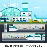 transport terminal compositions ... | Shutterstock . vector #797705356