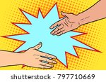 handshake  business deal ... | Shutterstock .eps vector #797710669