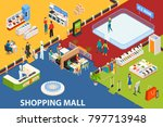 shopping mall background with... | Shutterstock . vector #797713948