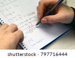 solving a system equation in...   Shutterstock . vector #797716444