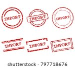 import stamps on white | Shutterstock .eps vector #797718676