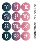 zodiac signs  horoscope ... | Shutterstock .eps vector #797721670