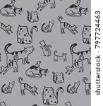 hand drawn pattern and... | Shutterstock .eps vector #797724463