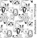 hand drawn pattern and... | Shutterstock .eps vector #797725168