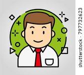 iconic avatar business | Shutterstock .eps vector #797732623