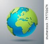 earth world map illustration | Shutterstock .eps vector #797732674