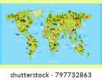 vector map of the world with... | Shutterstock .eps vector #797732863