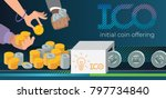 initial coin offering  ico... | Shutterstock .eps vector #797734840