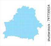 pixel mosaic blue dot map on...