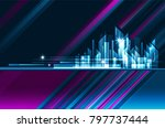 abstract modern night city... | Shutterstock . vector #797737444