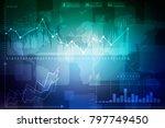 2d rendering stock market... | Shutterstock . vector #797749450