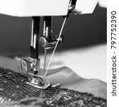 sewing machine  close up ...   Shutterstock . vector #797752390