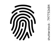 fingerprint or thumb impression | Shutterstock .eps vector #797752684