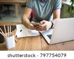man successful marketing... | Shutterstock . vector #797754079