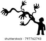 arm multiply man figure black...   Shutterstock .eps vector #797762743