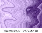 marble ink purple colorful... | Shutterstock . vector #797765410