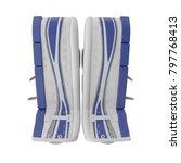 hockey goalie leg pads on white....   Shutterstock . vector #797768413
