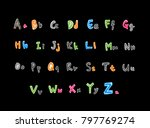 vector fonts   handwritten... | Shutterstock .eps vector #797769274