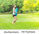 caucasian girl prepare to... | Shutterstock . vector #797769343