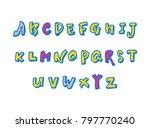 vector fonts   handwritten...   Shutterstock .eps vector #797770240