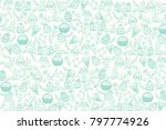 easter pattern with paschal... | Shutterstock .eps vector #797774926