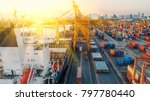 container container ship in... | Shutterstock . vector #797780440
