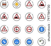 line vector icon set   sign... | Shutterstock .eps vector #797784730