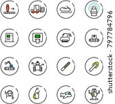 line vector icon set  ... | Shutterstock .eps vector #797784796