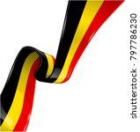 belgium ribbon flag on white... | Shutterstock .eps vector #797786230