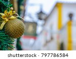christmas ornament and typical... | Shutterstock . vector #797786584