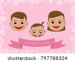 happy family father mother baby ... | Shutterstock .eps vector #797788324