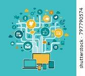 internet infrastructure concept ... | Shutterstock .eps vector #797790574