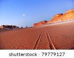 Tower mountains, Akabat desert, Africa, Egypt - stock photo