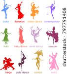 various style dancing.... | Shutterstock .eps vector #797791408