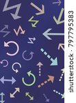 arrows abstract composition | Shutterstock . vector #797795383