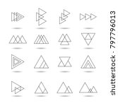 abstract triangle icon set ... | Shutterstock .eps vector #797796013