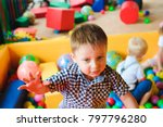 boys playing on the playground  ... | Shutterstock . vector #797796280