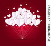 valentine's day background with ... | Shutterstock .eps vector #797804914