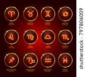 horoscope. zodiac icons.   Shutterstock .eps vector #797806009