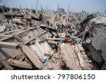 dhaka  bangladesh   april 24 ... | Shutterstock . vector #797806150