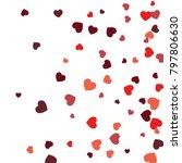 vector confetti background... | Shutterstock .eps vector #797806630