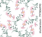 embroidery flowers  spring... | Shutterstock .eps vector #797806990